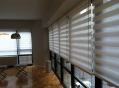Coulisse Double Roller Shades.