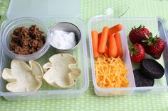 How to make mini tacos for your child's school lunch!