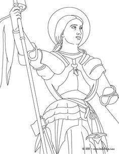 joan of arc the maid of orlans coloring page