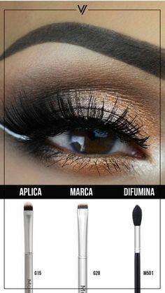 Logra los mejores resultados con #MorpheBrushes   #Brochas #Sombras #Ojos Makeup 101, Hair Makeup, Morphe, Make Up Art, Eye Shadows, Mess Up, Facial, Cosmetics, Eyes