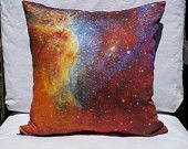 "Orange/Blue Nebula 16"" x 16"" Pillow Cover: North American Nebula Detail from NASA's Spitzer Telescope"