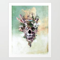 #skull #surreall #digitalart #canvas