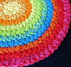 Crocheting With Two Strands Of Yarn : ... crocheted in the round with two strands of Sugar n Creme cotton yarn