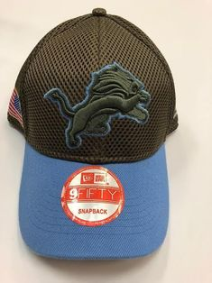 33dbf2a6a NFL BRAND NEW Detroit Lions Salute to Service New Era Curved Hat Salute To  Service