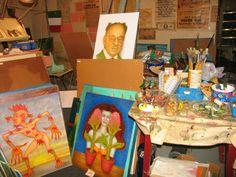 Bernard Gilardi, artist - basement studio discovered after his death
