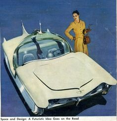 """Richard Arbib's 1956 """"Astra-Gnome: Time and Space Car Concept"""" – The Future is…"""