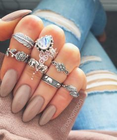Cause i have a secret obsession for nails and rings. These are so awesome! Cant stop admiring them.