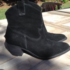 "Pour La Victoire Suede Boot Pour La Victoire Suede Boot. Color: Black Heel Height: 1.75"" Size: 7.5 Excellent Condition Pour la Victoire Shoes"