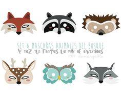 Máscaras ANIMALES DEL BOSQUE. Descargable