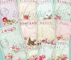 ADORE TICKETS Collage Digital Images -printable download file-. $4.50, via Etsy.