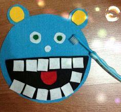Dis fırçalama öğrenme - Çocuklara diş fırçalama öğreniminde yardımcı olabilecek güzel bir etkinlik.