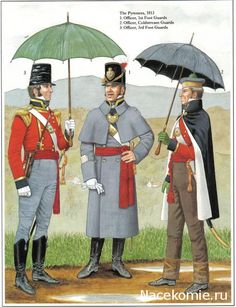 Deutsche english army The Pyrenees 1813 1_Officer, 1st Foot Guards 2_Officer, Coldstream Guards 3_Officer,3rd Foot Guards