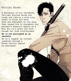 Nicholas Brown Gangsta   Gangsta Manga Nicholas Nicolas brown from gangsta
