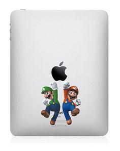 Mario - iPad Decal iPad 2 Sticker iPad Decals iPad mini Stickers Apple Vinyl Decal for Apple iPad iPad 2 iPad mini Macbook on Etsy, $8.80