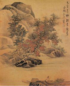 Lan Ying   Landscape after Li Tang