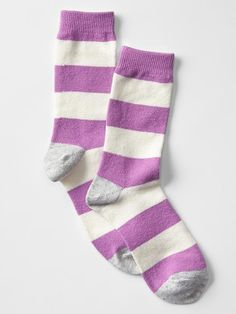 Socks - I like all the colorful socks from Gap. Cozy colorblock rugby socks Product Image