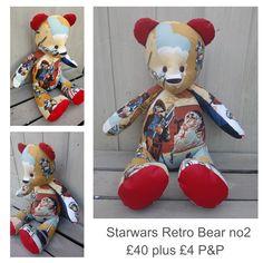 Star Wars Fabric, Vintage Fabrics, Bespoke, Bears, Teddy Bear, Facebook, The Originals, Toys, Check