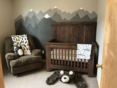 Baby Boy Nursery Room İdeas 431853051765601768 - I like this for the mountains on the wall Source by Baby Boys, Baby Boy Rooms, Baby Boy Nurseries, Rustic Baby Nurseries, Woodsy Nursery, Baby Nursery Ideas For Boy, Rustic Baby Rooms, Cute Baby Boy Names, Little Boys Rooms
