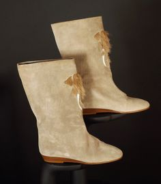 ANDREA PFISTER-1980s Suede & Fur Mammoth Boots, Size-8