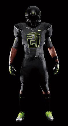 2011 Oregon Black Nike Pro Combat Unis