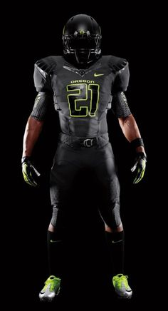2011 Oregon Black Nike Pro Combat Unis