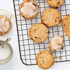 Toasted Almond and Cherry Scones | MyRecipes.com ~ Whether it's tea time or dinner time, these scone recipes are perfect for any occassion.    Our first recipe is Toasted Almond and Cherry Scones.    These scones come together in less than 30 minutes and are best served warm from the oven. Substitute an equal amount of chopped pistachios or walnuts for the almonds, if you prefer.