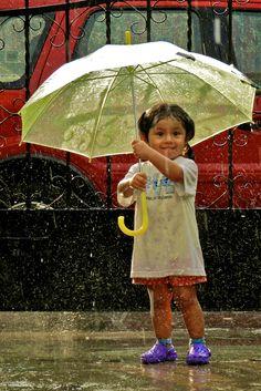 Cuteness in the rain....♥ More