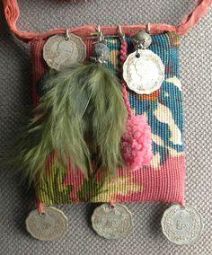 Colgante/collar textil. Espíritu bohemio. La creación por VeronikB
