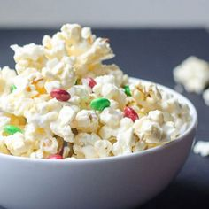 White chocolate covered popcorn - The perfect combination of sweet and salty. This is a sinfully tasty treat that is perfect for a gift.