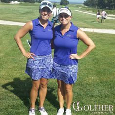 "#Twinning at the #LPGA #ShopriteClassic @golfhergirl 's Jackie Stoelting & Joanna Coe in our #ootd S""hell"" of a game skort and polo www.golfhergirl.com   Be sure to follow Jackie @JackieSGolf on the LPGA Tour and Joanna @Joanna_Coe on the Symetra Tour #ootd #golf #golffashion #golfskort @RoadtotheLPGA"