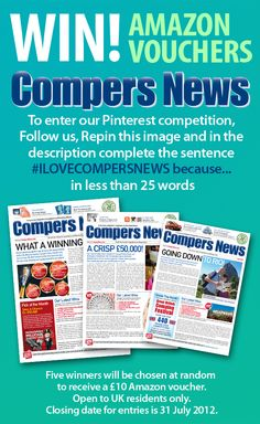 #ILOVECOMPERSNEWS because...  useful information, good articles, brilliant puzzles and of course prizes to be won, all adds up to loads of fun