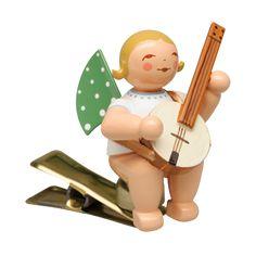 Engel mit Banjo auf Klemme Wendt Kühn, Banjo, Luigi, Fictional Characters, Christmas Jewelry, Angel, Fantasy Characters, Banjos