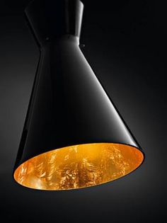 Contemporary Glass Feature Lighting_deMajo_Memory Pendant_Black Glass and Gold_Lighting Solutions_NZ