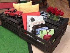 Get & recycle some wooden fruit boxes =)