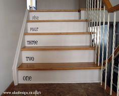 Our new house has stairs! We recently beautified our side entryway with a painted stairs project!
