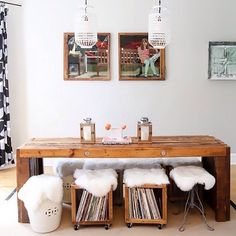 Cool storage hack for readily accessible vinyl  📷: Ashley Poskin