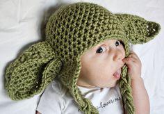 Baby Yoda Hat by EveryLittleBitShop on Etsy. $12.50, via Etsy.