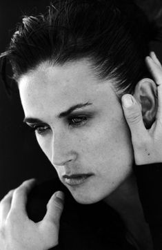 Demi Moore (born Demi Guynes, 1962) - American actress, film producer, film director, former songwriter, and model. Photo by  Peter Lindbergh