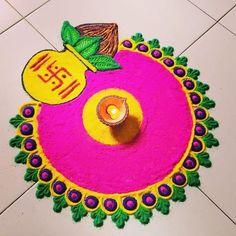 Simple Rangoli Border Designs, Easy Rangoli Designs Diwali, Rangoli Designs Latest, Rangoli Designs Flower, Free Hand Rangoli Design, Small Rangoli Design, Rangoli Ideas, Colorful Rangoli Designs, Beautiful Rangoli Designs