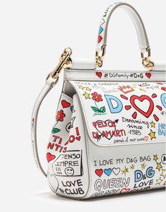 a82b8dce07b Dolce   Gabbana SMALL SICILY BAG IN PRINTED DAUPHINE CALFSKIN  1.995 Small  Handbags, Dust Bag