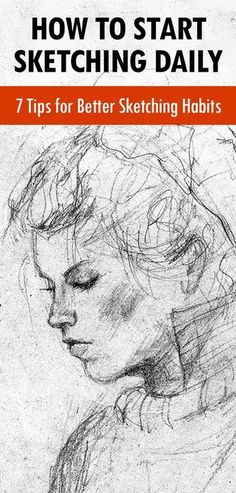 Want To Start A Sketching Habit Here Are Easy Tips - By Carrie Lewis In Art Business Advice General Art Advice In A Previous Article I Shared A Few Ways Artists Can Stay Creative During The Holidays My Tips Included Activities Both In And Outside Drawing Skills, Drawing Lessons, Drawing Tips, Painting & Drawing, Drawing Sketches, Easy Sketches, Drawing Hair, Gesture Drawing, Daily Drawing