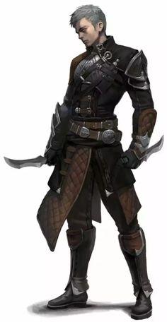 Fantasy Character Design, Character Design Inspiration, Character Concept, Character Art, Rogue Character, Fantasy Inspiration, Fantasy Male, Fantasy Warrior, Dark Fantasy Art