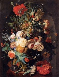 Хёйсум Ян ван (1682-1743) Ваза с цветами в нише
