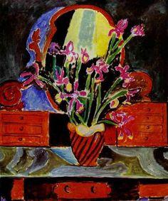 """Henri Matisse """"Vase of Irises"""" (1912) oil on canvas."""