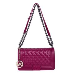 Perfect Michael Kors Sloan Logo Medium Fuchsia Shoulder Bags, Perfect You