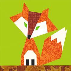 Qulit Schnittmuster Fuchs // Quilt pattern fox by Shape Moth via DaWanda.com