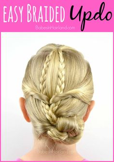 Easy Braided Updo from BabesInHairland.com #updo #braids #weddinghair…