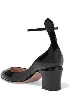 Valentino - Tango Patent-leather Pumps - Black - IT39.5