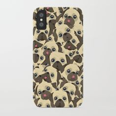Pugs iPhone Case by Dima_v | Society6