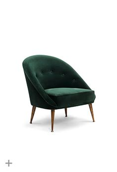 @BRABBU, MALAY Armchair, MALAY 2 Seat Sofa, Upholstered in green cotton velvet, legs in aged brass
